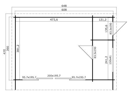 Preiswertes Gartenhaus Java Mit 44 Mm Starken Wandbohlen