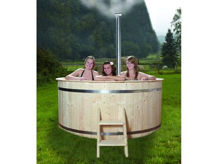 preiswerter Badebottich Hot Tub Ø 200 mit holzbeheiztem Ofen