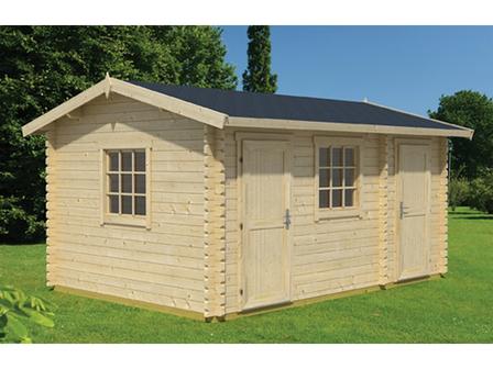 preiswertes gartenhaus bora mit 44 mm starken wandbohlen. Black Bedroom Furniture Sets. Home Design Ideas