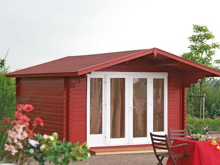 preiswertes gartenhaus kaya 44 a st mit schiebet r. Black Bedroom Furniture Sets. Home Design Ideas