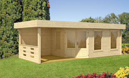 preiswertes gartenhaus maja 40 b 1 mit terrasse. Black Bedroom Furniture Sets. Home Design Ideas