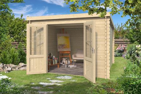 pultdach ger tehaus miami bei gartenhaus2000 kaufen. Black Bedroom Furniture Sets. Home Design Ideas