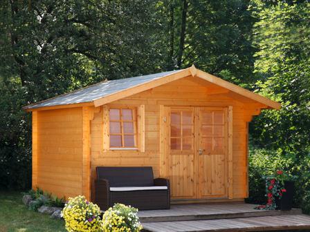 preiswertes gartenhaus oslo 34 g mit doppelt r. Black Bedroom Furniture Sets. Home Design Ideas